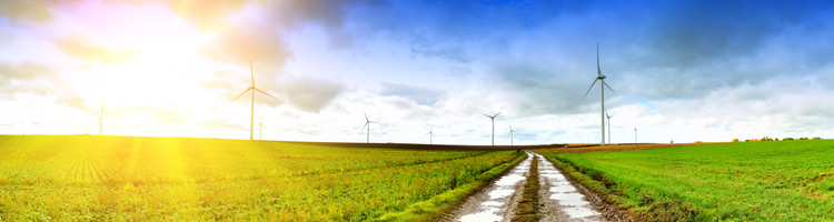 Green ethical funds - renewable energy countryside